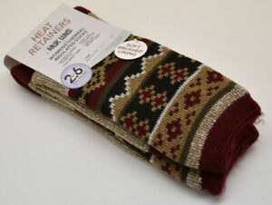 Muk Luks Womens's Thermal Insulated Socks Size 6-11 Burgundy New NWT