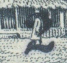 LIBERIA 1914 VARIETY: 2 C on 25 C black-brown/black VFU OVERPRINT-ERROR broken 2