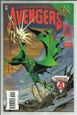 AVENGERS #391 1995 W/ OVERPOWER GAME CARD! THE CROSSING TIE-IN! MIKE DEODATO NM-