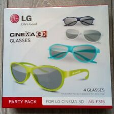 New 4 x Genuine LG Cinema 3D Glasses AG-F315 Colors Fast Delivery