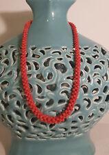 Collana autentico corallo rosso Sardegna di prima qualità, preziosa montatura