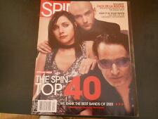U2, Moby, PJ Harvey - Spin Magazine 2001