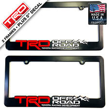 TRD-License-Plate-Frame-Toyota-TRD-Offroad-4x4-Takoma-FJ-Cruiser-Yaris-Rally-car
