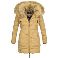 Marikoo KNUDDELMAUS Damen Mantel Jacke Stepp Winterjacke warm 2in1 Kunstfell