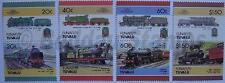 1986 FUNAFUTI Set #4 Train Locomotive Railway Stamps (Leaders of the World)