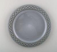 Bing & Grondahl number 325. Set of 14 dinner plates. Grey Cordial Quistgaard