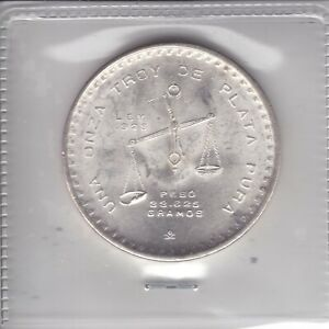 VINTAGE • 1979 Mexican Una Onza Balance Scale • 1 oz Silver Coin!   Hard To Find