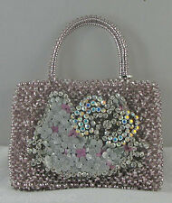 Hello Kitty Anteprima Pink Evening Bag Rhinestones Woven Amazing Ltd Edition