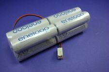 Senderakku Sanyo Eneloop 9,6V für Futaba Molex Stecker