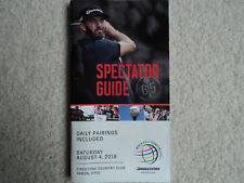 2018 Bridgestone Invitational Spectator Guide / Pairing Sheet, Firestone CC