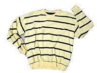 Duck Head VTG Mens Sweater Long Sleev_Yellow w/Blue Stripes Size M