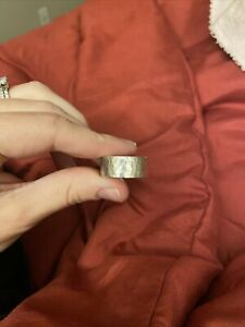 James Avery Retired Wide Hammered Band sz 10