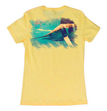 Guy Harvey Womens Glider S/S T-Shirt, Banana, Medium, NWT