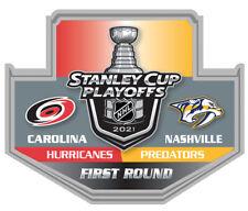 2021 NHL STANLEY Tasse Playoffs Broche Hurricanes Predators 1ST Premier Rond