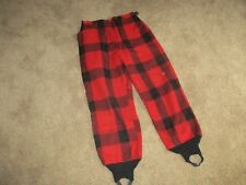 Vintage White Stag Westwools Red Plaid Hunting Pants 30W