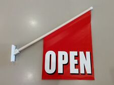 2 x Open Wall Flags - Double Sided Print Vinyl - 60cm x 40cm - FREE SHIPPING !!
