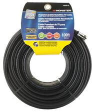 Premium Cable/Satellite Tv Cable Digital Audio/Video Black 100Ft