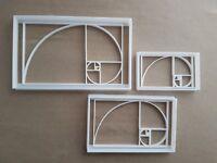 Sequenza di Fibonacci Math Forma Biscotti Taglierino Dough Pasta Ripieno Timbro