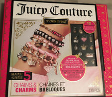 Juicy Couture Make It Real 5 Chains And Charms 130 Pieces