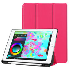For iPad 9.7 2018 Release Smart Leather TPU Stand Cases Cover With Pencil Holder