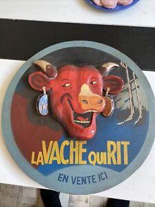 Plaque Bois La Vache Qui Rit