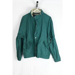 Members Only Men's Large Green Windbreaker Jacket