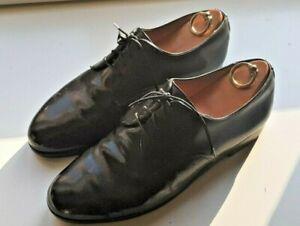 ALT WIEN Modell London, Derby plain toe, Shell Cordovan schwarz  Uk Gr. 10 E