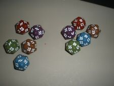 MTG Magic Fate Reforged & Khans of Tarkir Spindown Dice Die x10 1 of Each Color!