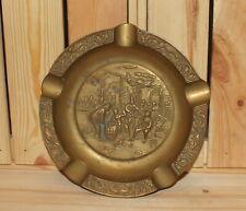 Vintage ornate solid brass cigarette ashtray