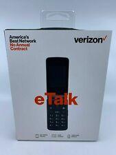 New & Sealed - Verizon Wireless Prepaid eTalk Flip Phone Gray 1.1 GHz Quad-Core
