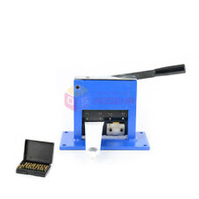 Manual Aluminum Laminate Tube Sealer Crimping Sealing Date Letters Code Machine