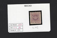 MACAU MACAO  1885  Crown 25r lilac