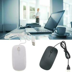 WIRED USB OPTICAL MOUSE For PC LAPTOP COMPUTER SCROLL BEST LED Y RED WHEEL O8X8