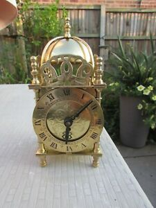 Smiths Brass miniature Lantern clock 1957