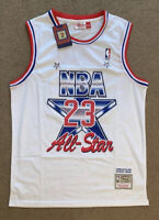 Michael Jordan #23 White Mitchell & Ness 1991 All Star Game Jersey Mens Large