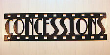 Concessions, New Metal Wall Art, Home Theater Decor, Contemporary Movie Sign