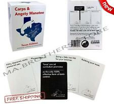 Cards Against Humanity Expansion Carps Angsty Manatee Party Fun Game Texas Pack