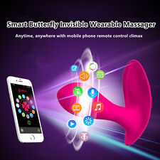 Female Invisible Wearable Butterfly Smart Phone APP Remote Control Vibrate Panty