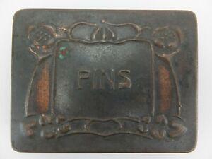 Antique PINS Tin - Sewing Needlework Cross Stich