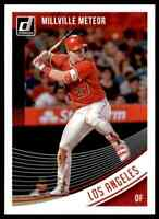 2018 DONRUSS MILLVILLE METEOR MIKE TROUT LOS ANGELES ANGELS #155