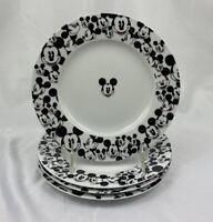 Disney All Over Print Mickey Mouse Salad Plate Set 4