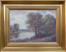Desconocido Impresionista -romantischer Waldsee -ölgemälde -monogramm