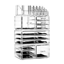 Acrylic Makeup Organizer Arts & Crafts Supplies Clear Display Cosmetics Storage