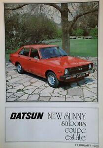 1980 DATSUN SUNNY SALOON / ESTATE / COUPE car sales brochure   S24/75M/2-80/A455
