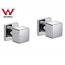 Cubic Square Bathroom Wall Assemblies 1/4 Turn Taps Set Water Faucet Shower Bath