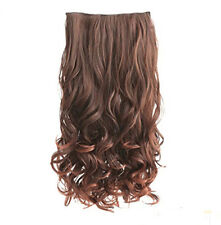"""New Hair Extension 19""""-24"""" Long Wavy 5 Clips Full Head Top 6 Different Colors"""