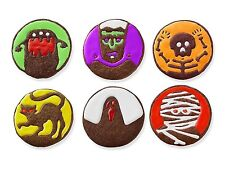 Tovolo Halloween Spooky Monster Cookie Cutter & 6 Design Stamps Set Round