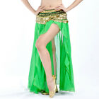 New Belly Dance Costume Skirt Golden Edge Single Slit Skirt 12 Colors