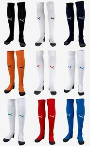 Puma Men LIGA Soccer Stocking 1 Pairs Socks Red Blue Knee Stocking Sock 70344101