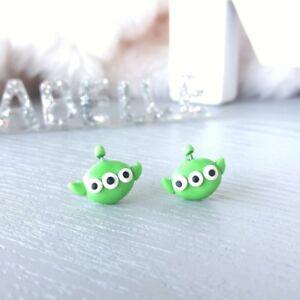Disney Tsum Tsum Inspired Little Green Man Alien Earrings Surgical Steel Stud